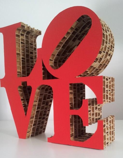 LOVE cardboard